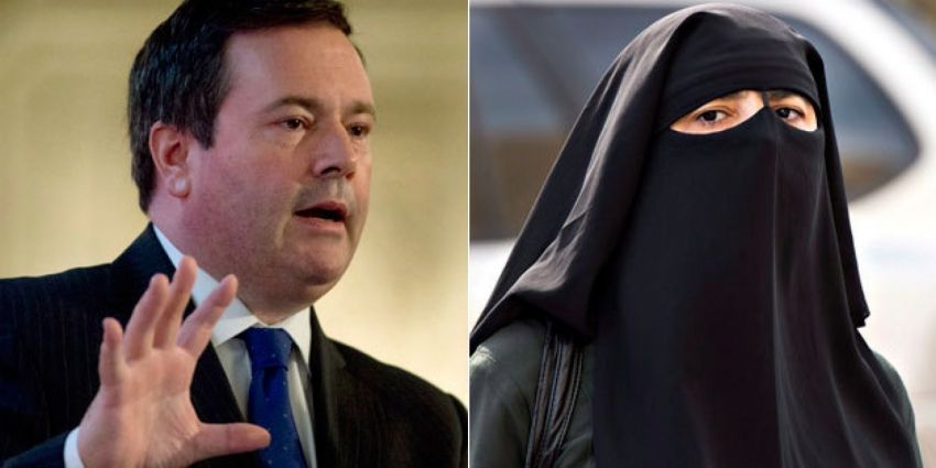 Jason Kenney slamming niqab wearing woman