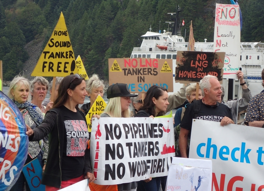 LNG, pipeline, Squamish, demonstration, environmentalism, activism