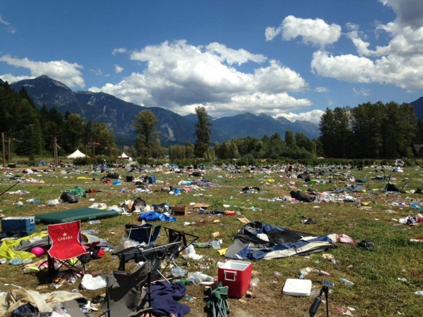 litter, garbage, sustainability, concerts, Pemberton Music Festival