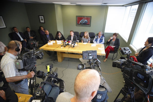 Press conference Dogwood Coastal First Nations Unifor West Coast Environmental