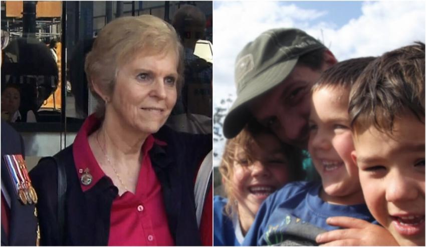 Left: war veteran daughter Jackie Scott. Right: Donovan McGlaughlin