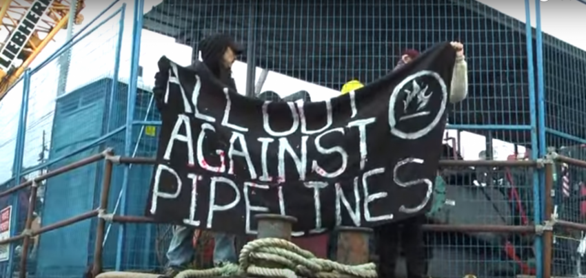 Kinder Morgan, Trans Mountain pipeline expansion, pipeline protest, Burnaby