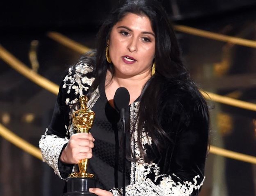 Sharmeen Obaid-Chinoy accepts the Oscar for best documentary short