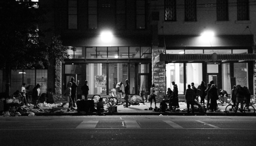 """skid row"" on the downtown eastside"