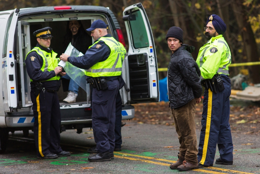 Tamo Campos arrested Burnaby Mountain in protest of Kinder Morgan - Mark Klotz