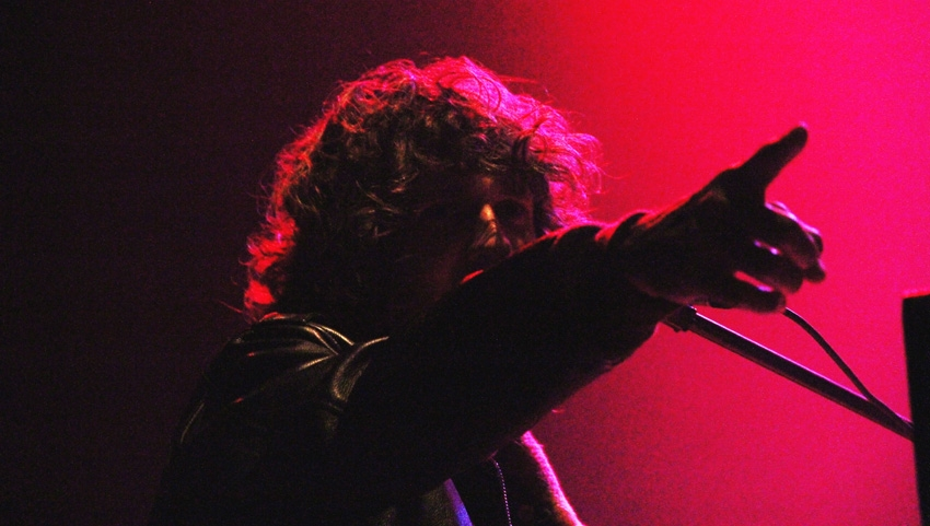 Tobias Jesso Jr. pointing