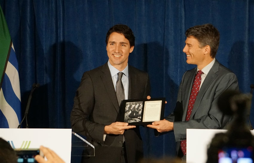 Justin Trudeau, Gregor Robertson, City of Vancouver, British Columbia