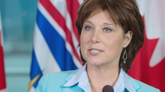BC Premier Christy Clark announcing a carbon tax freeze in 2015
