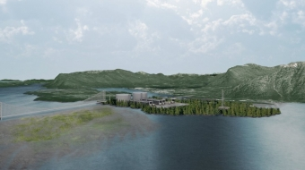 Proposed site of Pacific Northwest LNG