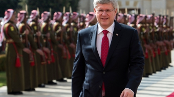 Prime Minister Stephen Harper during an official trip to Jordan, Flickr