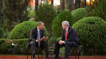 Barack Obama and Stephen Harper