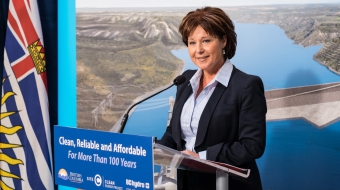Premier Christy Clark site c dam approval - bc gov't photo