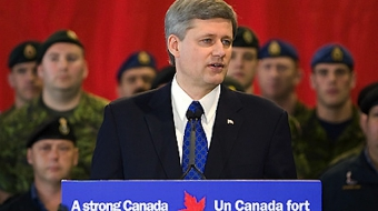 Stephen Harper and Canadian armed forces