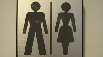 Gender neutral washroom signs