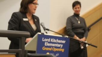 Patti Bacchus speaks at Kitchener Grand Opening