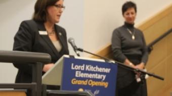 Patti Bacchus speaks at Kitchener Grand Opening