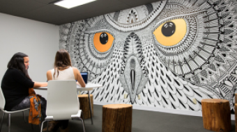 HootSuite office mural (image courtesy of HootSuite)
