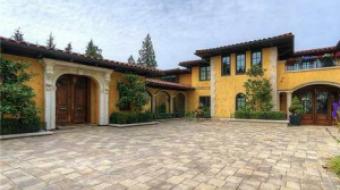 West Van mansion with massive driveway