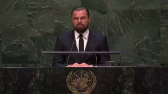 Leonardo DiCaprio at UN Climate summit