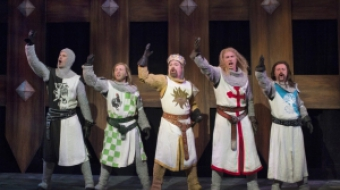 The Knights of Camelot—Monty Python's Spamalot. Photo by David Cooper.