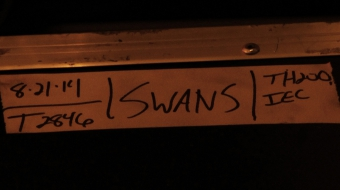 Swans band music case label