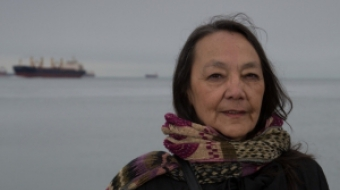 Tantoo Cardinal with the Wall of Women opposed to Kinder Morgan pipeline expansi