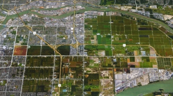 Agricultural Land Reserve next to high-priced housing
