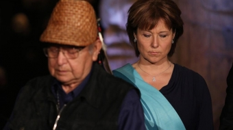 Elder Elmor George and Premier Christy Clark,