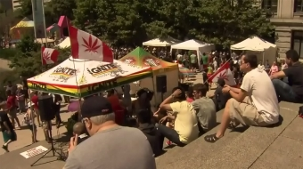 Cannabis Day on Canada Day at the Vancouver Art Gallery