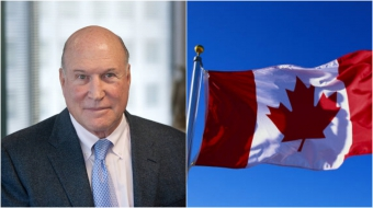 Left: Richard Berman, right: Canadian flag