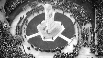 The cenotaph at Victory Square Park