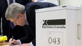 Harper government, Justin Trudeau, Thomas Mulcair, Elizabeth May
