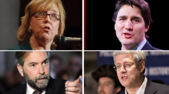 The four federal party leaders have a long campaign ahead of them.
