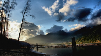 Fraser River near Chilliwack, near proposed hazardous waste facility