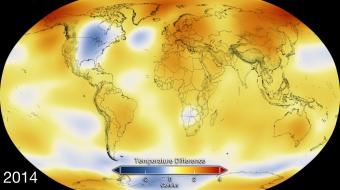 NASA NOAA 2014 hottest on record - NASA image