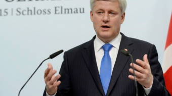 Prime Minister Harper at the G7 Summit. CP Photo