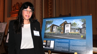 Photo of Andrea Reimer at Women Build event by Sindhu Dharmarajah