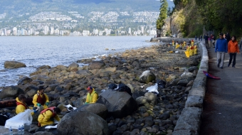 oil spill, English Bay oil spill,