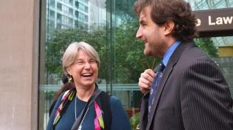 Lynne Quarmby and lawyer Jason Gratl key Kinder Morgan ruling - Jenny Uechi