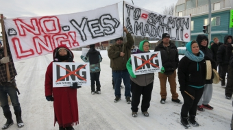 Gitxsan protesting LNG development in New Hazelton