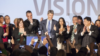 Mayor Gregor Robertson re-elected - Mychaylo Prystupa - 2014 Vancouver election