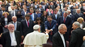 Mayors have audience with Pope Francis