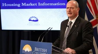 BC Finance Minister Michael de Jong