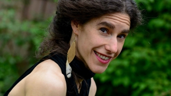"""Naomi Steinberg, creator and performer of """"Goosefeather"""""""