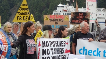 protest, demonstration, LNG, Woodfibre, Squamish