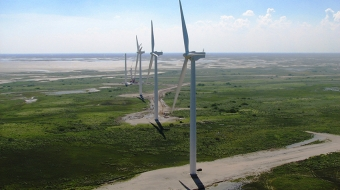 Wind turbines reach new heights. Pattern Energy Group photo
