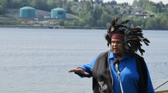 Rueben George has campaigned against Kinder Morgan's pipeline expansion for