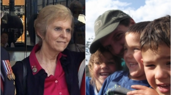 Left: war veteran daughter Jackie Scott. Right: Donovan McGlaughlin