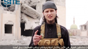 Screenshot of Ottawa native John Maguire in ISIS' latest propaganda video