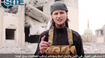 Screenshot of Ottawa native John Maguire in ISIS' latest propaganda video
